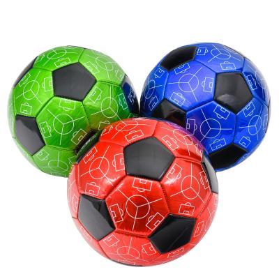 Мяч футбольный, размер 5,три цвета в ящ,ПВХ,320 гр