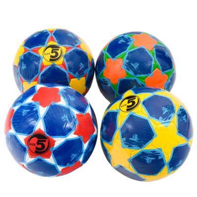 Мяч футбольный, размер 5,четыре цвета в ящ,ПВХ