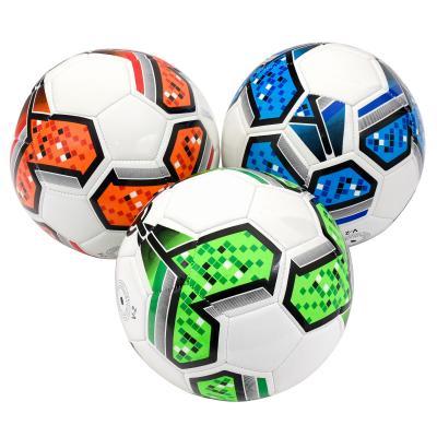 Мяч футбольный, размер 5, четыре цвета в ящ,ПВХ,30