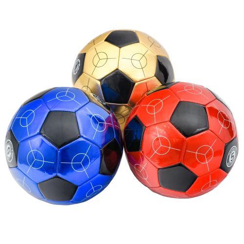 Мяч футбольный, лаковый, 4 цвета, MM 001223