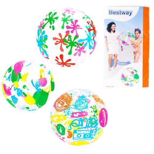 BW Мяч 61см, 3вида, в кульке, 15,5-31-1см, 31001
