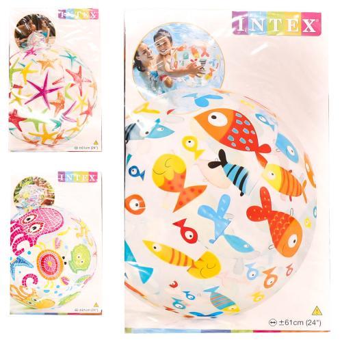 Мяч 61см, винил, 2 вида, в кульке, 15-23,5-1см, 59050