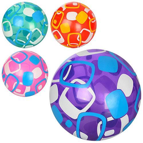 Мяч детский 9 дюймов, полноцветный, ПВХ, 4цвета, MS 0947-1