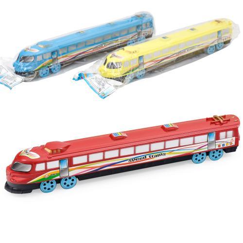 Поезд 3399 (192шт) инер-й, на колесиках, 3 цвета, 3399