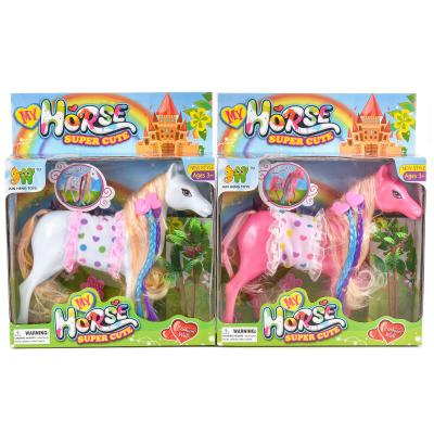 Лошадка с цветными локонами