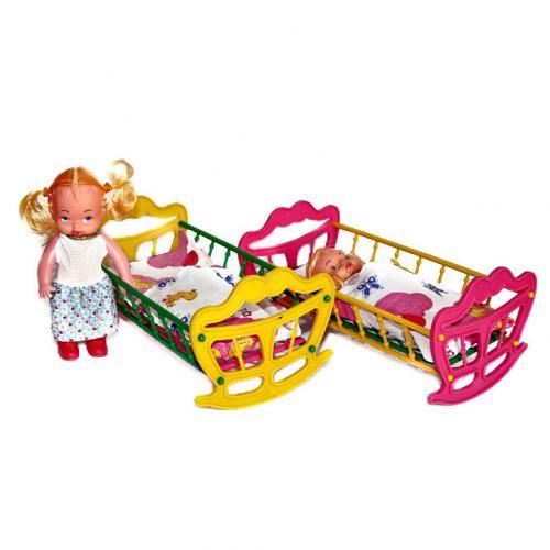 """Детская игрушка """"Кроватка с куклой"""", МГ 135"""