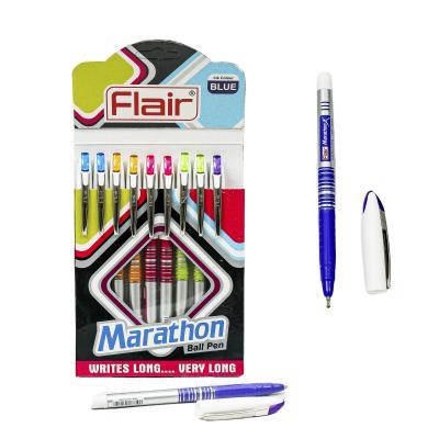 Ручка Flair Marathon, шариковая, синяя, 10 шт. (цена за штуку)