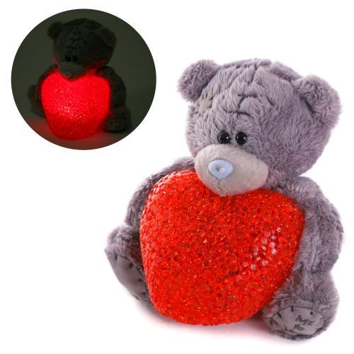 Мягкая игрушка MP 1809 (48шт) мишка, сердце, свет, MP 1809