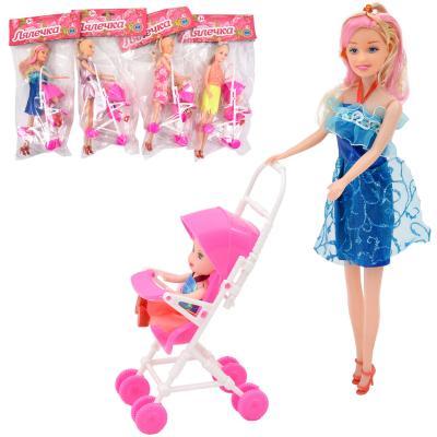 Кукла с коляской и дочкой