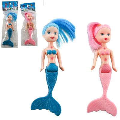 Кукла русалка 14см, 2цвета, в кульке