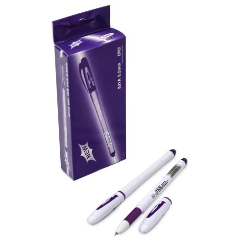 Ручка AIHAO, гелевая, фиолетовая, 12 шт. (цена за упаковку), WK-801A-F