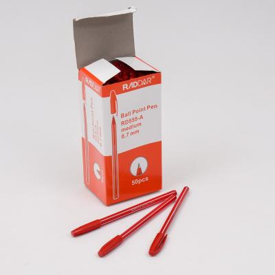 Ручка RADDAR, шариковая, красная, 50 шт. (цена за упаковку), WK-555