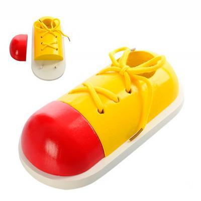 Деревянная игрушка Шнуровка MD 0966 (72шт) обувь