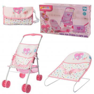 Набор игровой D94523 (4шт) для куклы, коляска 50-4