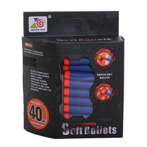 Пульки ZC08 (48шт) мягкие, присоски, 40шт в кор-ке, ZC08