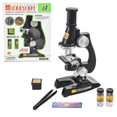 Микроскоп C2119 (36шт) 21см, свет, стекла, пробирк