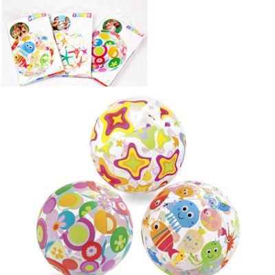 Мяч надувн. 59040 цветоч., квадр., звезды, 59040