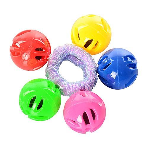 Погремушка шарики на резинке, в кульке, 9-9-3см, 3015