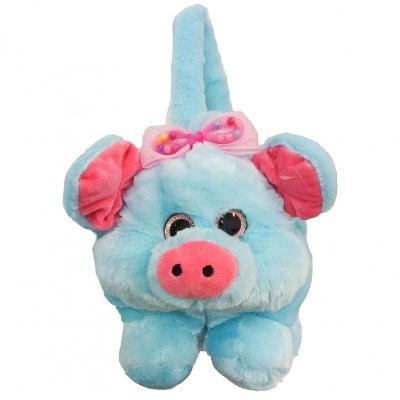 Сумка MP 1658 (24шт) свинка, 1отд, застеж-молния