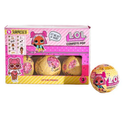 Кукла HT180728 (144шт) LOL, 7,5см, шар 9,5см, буты, HT180728