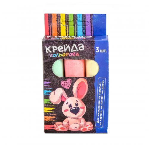 Мел MK 0773 (120шт) 3шт(цвета), большой, 88г, 2 ви, MK 0773