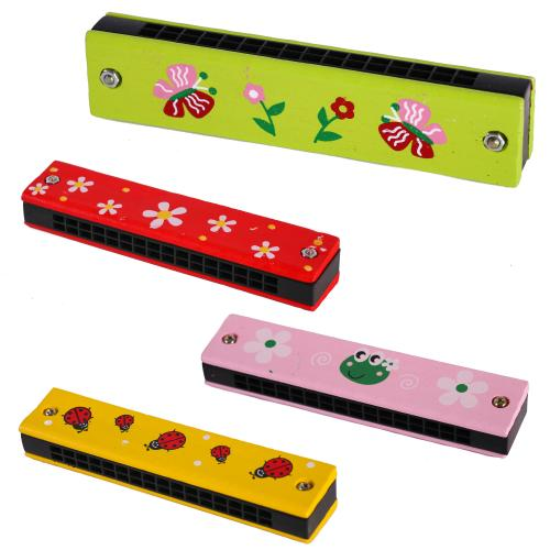 Деревянная игрушка Гармошка MD 0491 (120шт) 4 вида, MD 0491