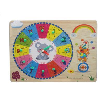 """Деревянная игрушка """"Часы - кладыши"""", L22-19"""