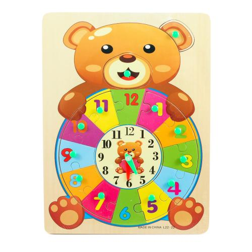 """Деревянная игрушка """"Часы Мишутка"""", L22-22"""