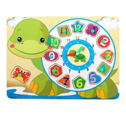 """Деревянная игрушка """"Часы Черепашка"""", L22-24"""