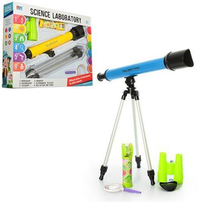 Набор игровой 7006A (12шт) телескоп, бинокль, лупа