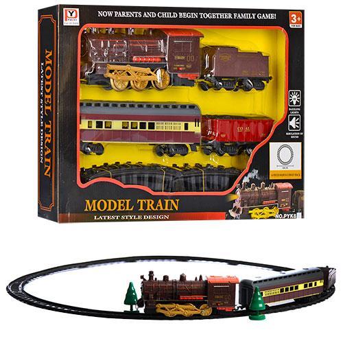 Железная дорога 86см, локомотив, 22см, вагоны,звук, PYK8-81