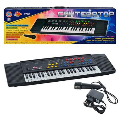 Пианино 37 клавиш, микрофон