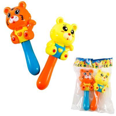 Погремушка 15см, 2шт (мишка,обезьянка), в кульке