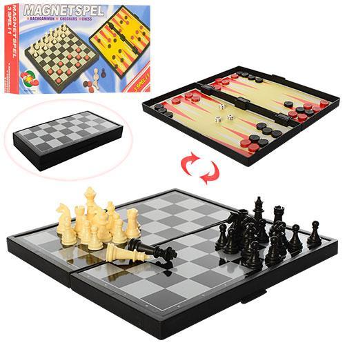 Шахматы 3 в 1, магнитные, 2029-M-1