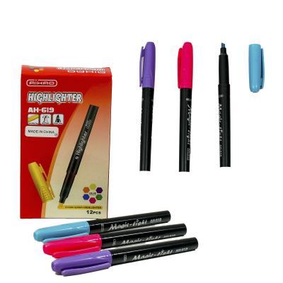 Ручка-текстовыделитель AIHAO, 6 цветов (цена за упаковку)