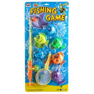 Рыбалка 2вида,удочка,6рыбок,на планш. 25,8*53см