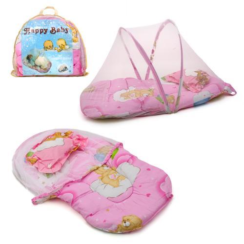 Коврик для младенца с маскитной сеткой, подушкой, W 6500-18