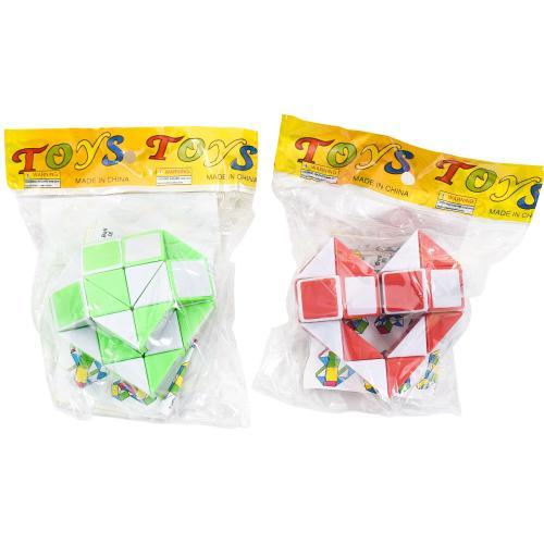 Игра головоломка, змейка, 2 цвета, в кульке, 6,5-6, 5500-3