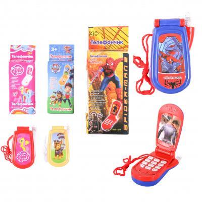 Телефон мобильный, 6 видов, в коробке