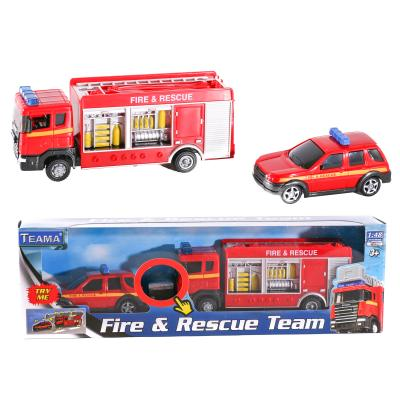 Пожарная машина 70392 (24шт) 1:48, 2шт, 16см и 10с
