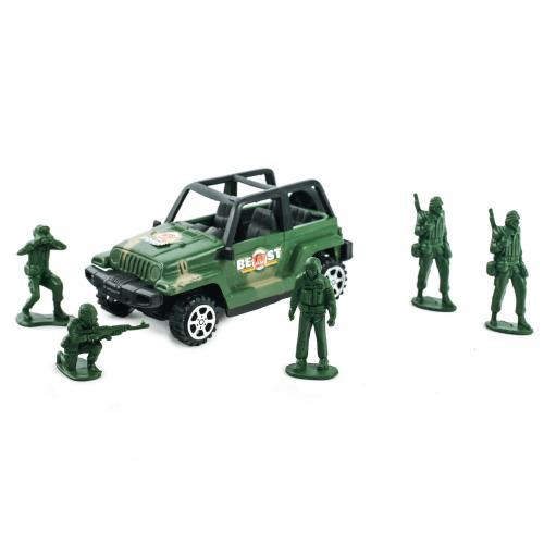 Джип инер-й, 13-6-6,5см, солдатики 5 шт,в кульке, 4280