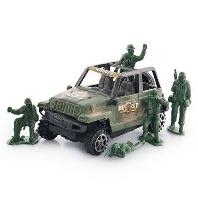 Джип инерционный + солдатики, 4280