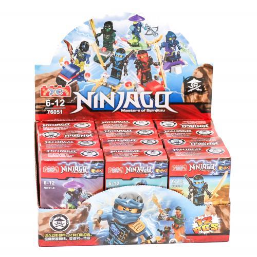 "Конструктор "" Ninjago"" (коробка 12 шт.) р.25*12*7, 76051"
