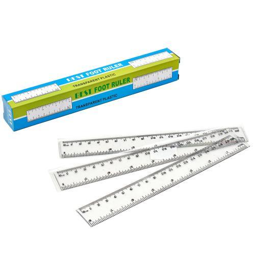 Линейка пластиковая, 20 см (цена за штуку), SAT-2434120