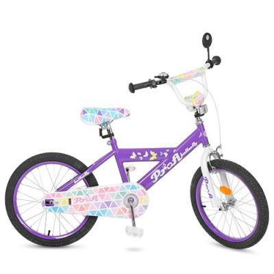 Велосипед детский PROF1 20д. Butterfly 2,сиреневый