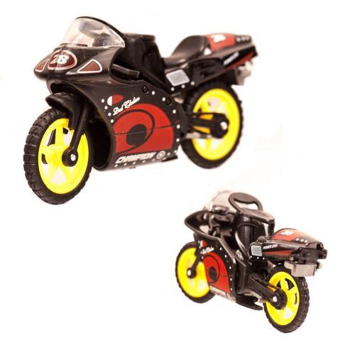 Мотоцикл XY028 (288шт) металл, 8,5см, 24шт(микс цв, XY028