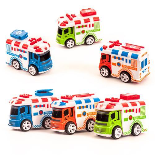 Машинка 0783-69 (108шт) скорая помощь, инер-й, 9,5, 0783-69