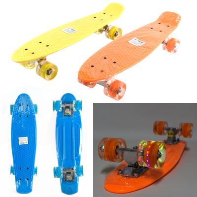 Скейт Пенни со светящимися колесами, металлическая подвеска