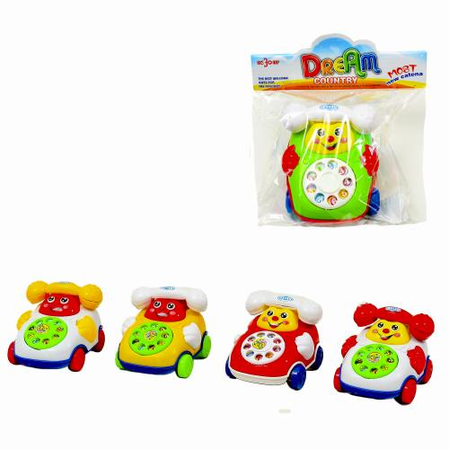 Заводная машинка-телефон, 28018-2