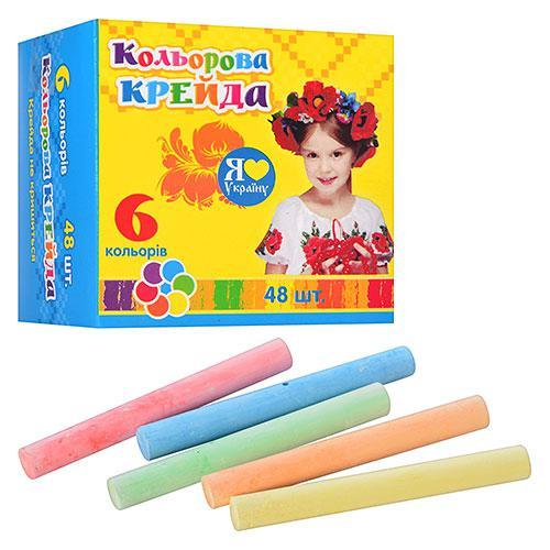 Мел 48шт, цветной (5 цветов), MK 0091-1